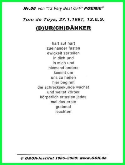 """""""Echtes"""" Liebesgedicht: 12.Beispiel für Erweiterte Sachlichkeit von DAS tOhM (TM poemie De Toys)"""