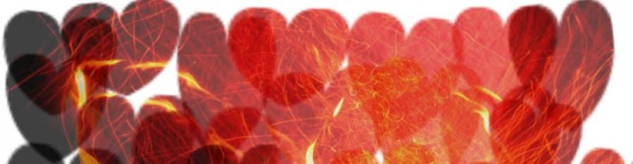Herzen aus Feuer