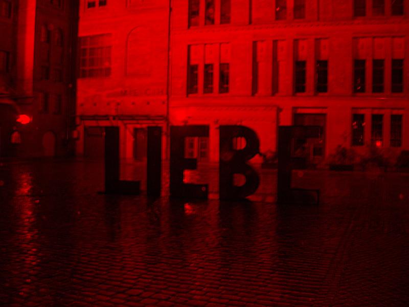 Liebe schwarz-rot